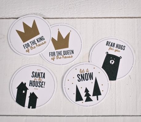 stickers pour d corer les cadeaux de no l selfpackaging. Black Bedroom Furniture Sets. Home Design Ideas