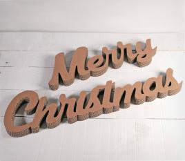 Lettres en carton Merry Christmas