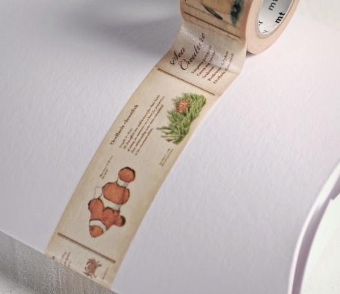 Washi Tape Poissons Beige