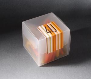 Petite boîte semi-transparent pour des événements