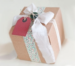 Petite boîte cadeau carrée