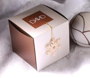 Boîte de Noël avec dépouiller