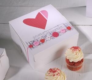 Boîte à cupcakes décoration cœur