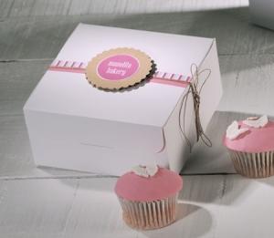 Boîte Décorée pour 4 Cupcakes