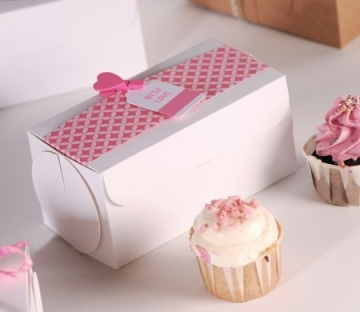 Petite boîte fermée pour deux cupcakes