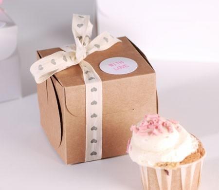 Boîte à Cupcake avec Nœud