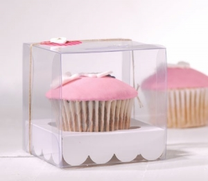 Boîte de cupcake pour une communion