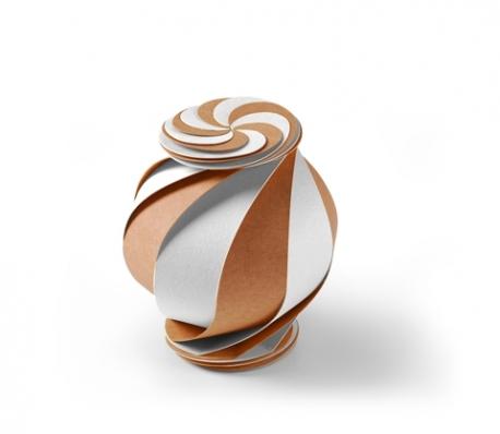 Boîte cadeau spirale carton