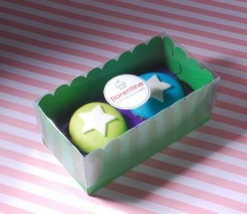 Boîte couleurs pour deux cupcakes