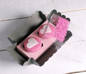 Boîte pour Deux Cupcakes Décorée avec des Confettis