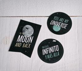 """Autocollants cadeaux """"Universe"""""""