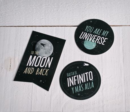 """Stickers pour cadeaux """"Univers"""""""