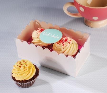 Boîte corporative pour deux cupcakes