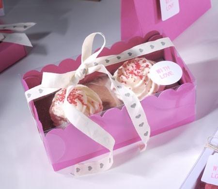 Boîte à Cupcakes avec Cœurs