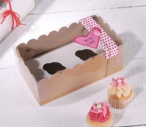 Boîte pour deux mini cupcakes