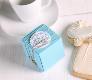 Mini boîte cadeau turquoise