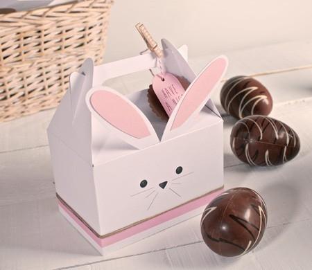 Boîte pour faire un lapin en carton