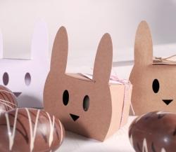 Boîte lapin avec baker's twine
