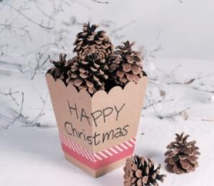 Boîte de Noël pour décorer