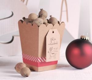 Originale boîte cadeau de Noël