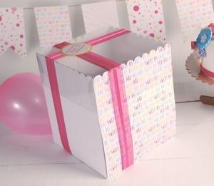 Boîte à gâteau imprimée