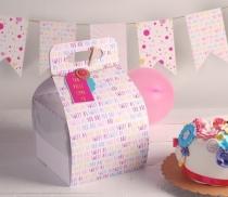Boîte gâteaux avec poignée