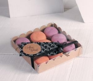 Petite boîte à macarons-2244 taille S color kraft