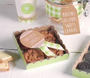 Boîte à Biscuits Verte Décorée