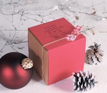 Boîte carrée à bijoux et petits cadeaux