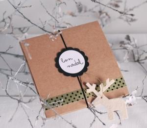 Boîte de Noël avec renne en feutrine