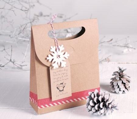 Sachet cadeau de Noël pour des magasins