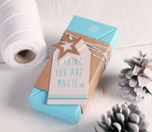 Boîte cadeau sapin de Noël