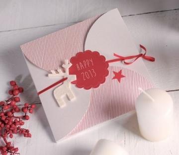 Enveloppe en carton pour cartes de Noël