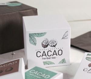 Boîte carrée imprimée pour thé