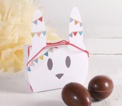 Jolie boîte lapin de Pâques