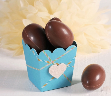 Cajita para huevos de chocolate