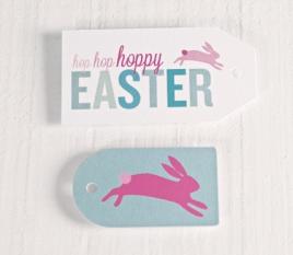 Étiquettes imprimées Pâques