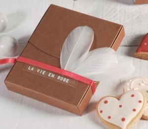 Petite boîte à Polaroïds décorée