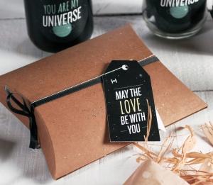 Boîte cadeau décorée sur le thème Star Wars