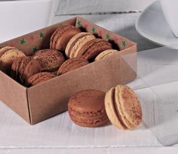 Boîte carrée à macarons
