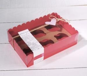 Boîte pour six cupcakes