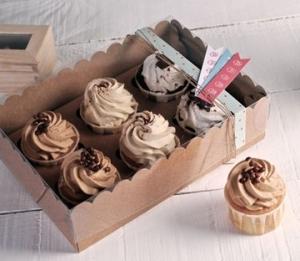 Boîte décorée pour 6 cupcakes