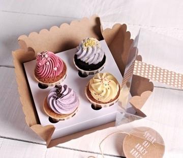 Boîte pour 4 cupcakes