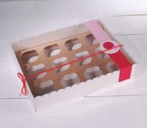 Boîte en Carton pour 12 Cupcakes