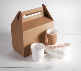 Grand kit emballages de vente à emporter