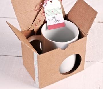 Boîte à Tasses Décorée avec washi tape