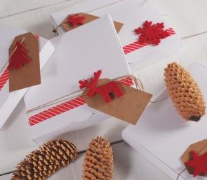 Boîte plane et décorée pour Noël
