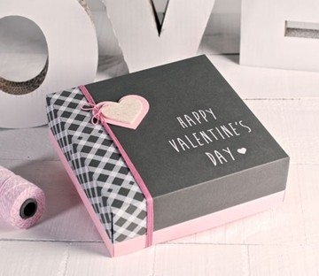 Boîte de Saint Valentin Imprimée