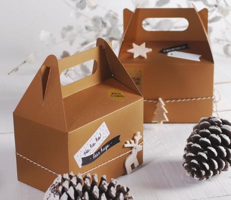 Boîte pique-nique pour cadeaux de Noël