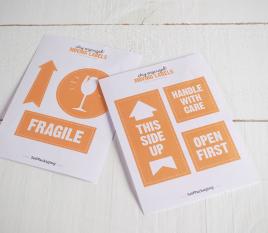 """Étiquettes d'emballage """"Fragile"""""""
